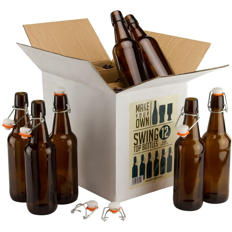12 x 500ml swing top beer bottles (brew your own) instore £7.99 @ B&M