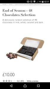 York Mcarthur Glen -  Hotel Chocolat end of season chocs 2 for £10