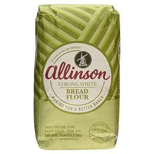 Allinson Strong White Bread Flour, 3kg £1.25 @ amazon pantry £2.99 delivery per box