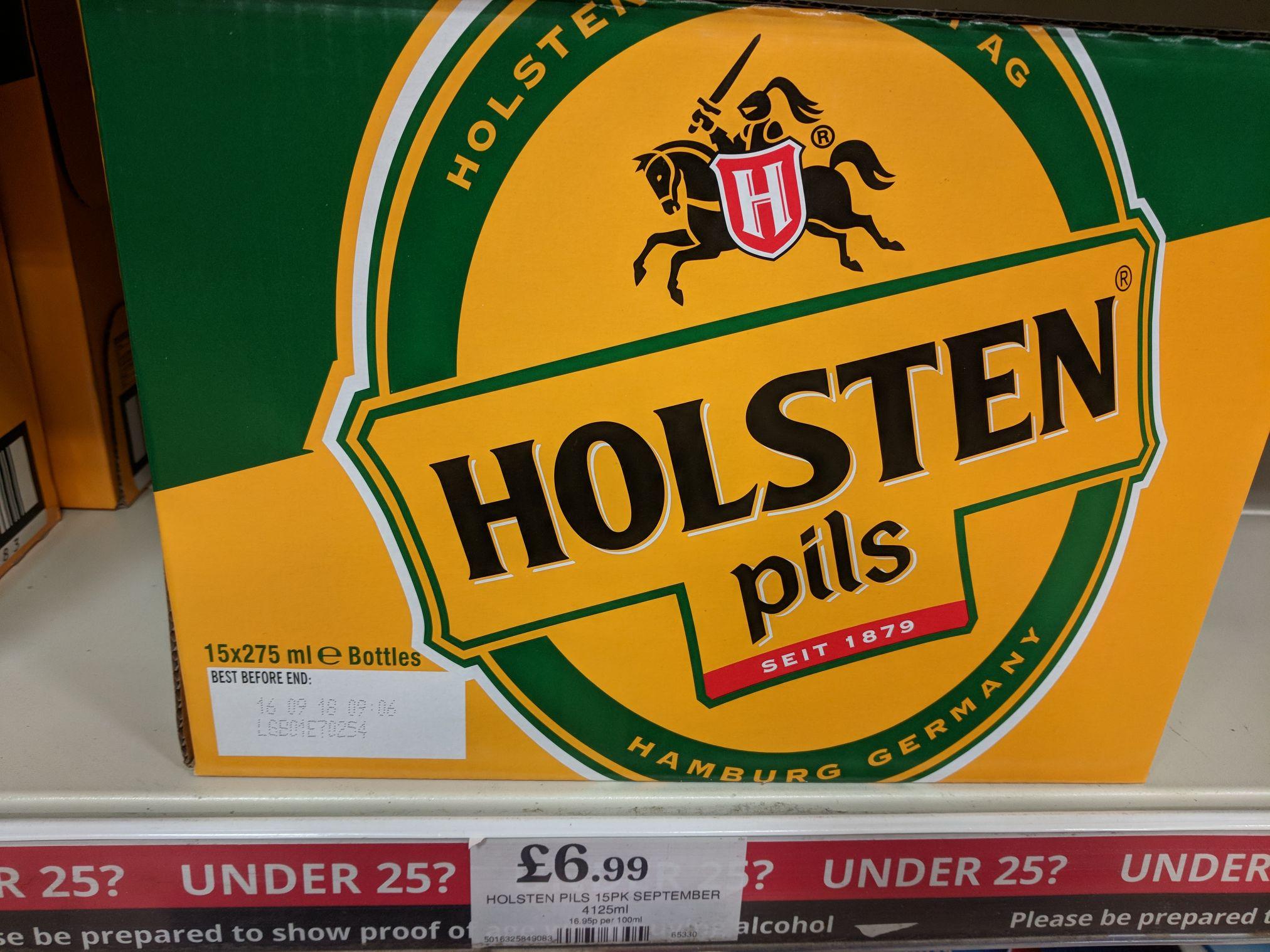 Holsten pils 15 X 275ml bottles £6.99 @ Home Bargains