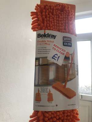 Beldray double sided 2 in 1 mop £1 @ B&M - Market Harborough