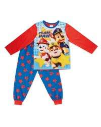 Toddler Pyjamas Paw Patrol Blue Or Pink PJ Masks & Peter Rabbit Available to pre order or in store Thurs 16th Aug @ Aldi £3.99