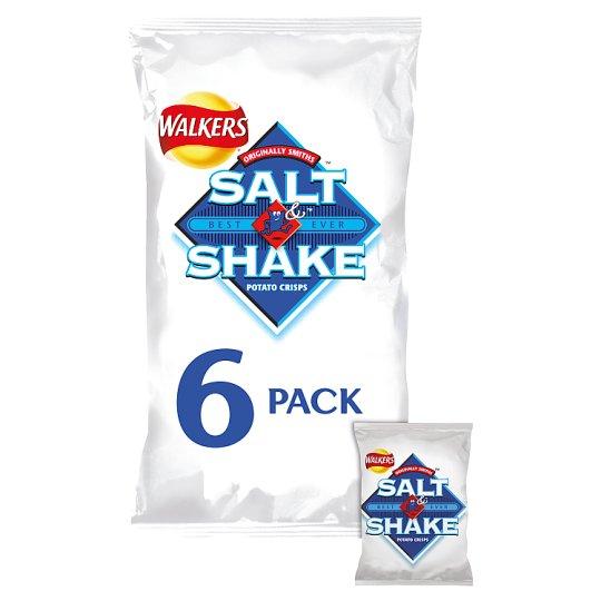 Walkers Salt and Shake Crisps, 24 g, Pack of 6 70p @ Heron Foods