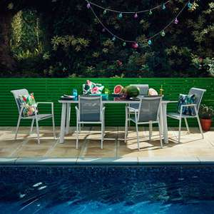 Soho 6 Seater Metal Garden Furniture Set £239.70 from Wyevale Garden Centre - available online