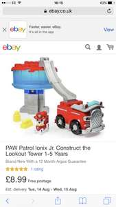 Paw patrol - construct the lookout tower £8.99 @ebay Argos