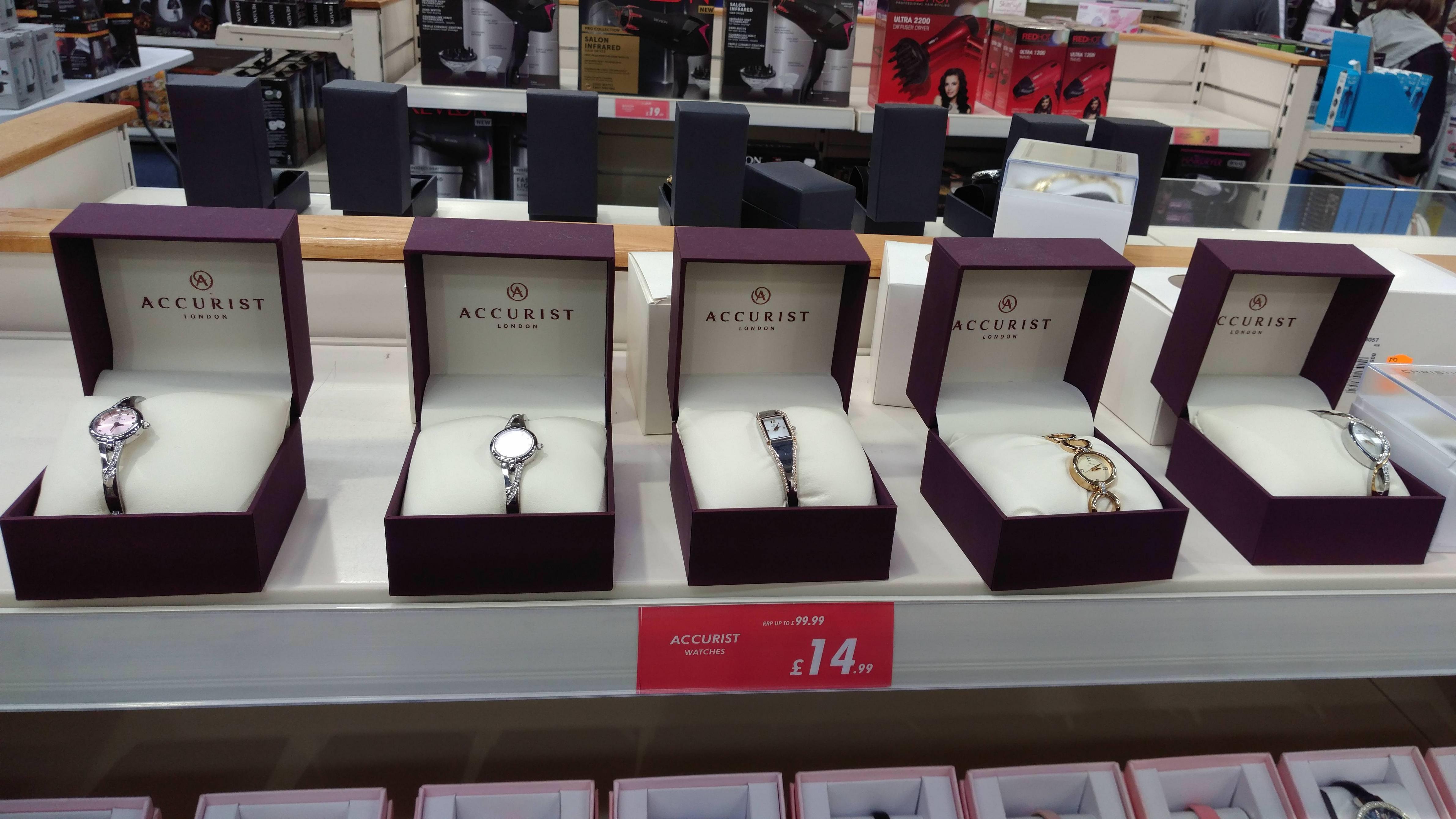 Ladies' Accurist Dress Watches For £14.99 @ Watt Bros, Robroyston, Glasgow, In Store
