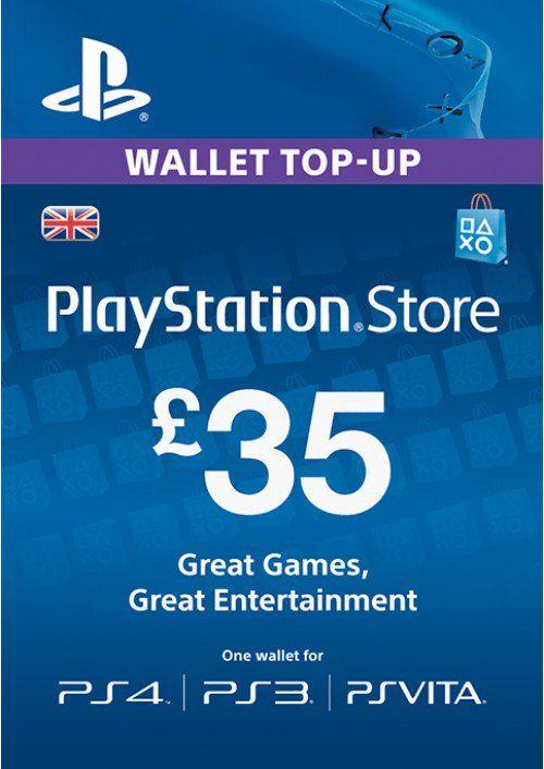 Playstation Network Card - £35 (PS Vita/PS3/PS4)  £31.89 @ cdkeys