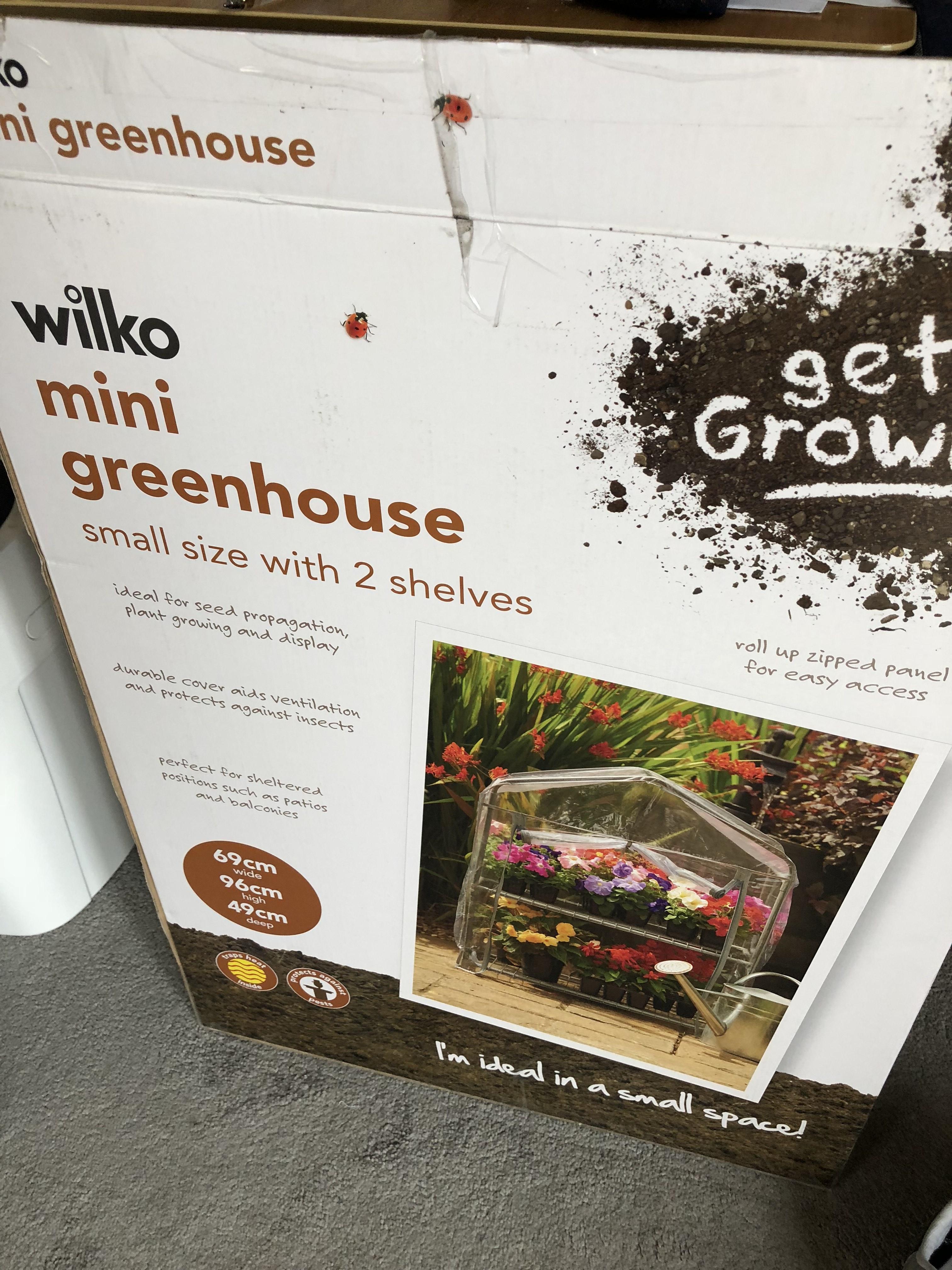 Wilkinson - Small PVC greenhouse £2.00 instore (Bexleyheath)
