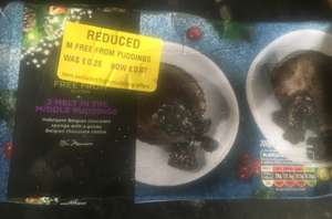 X2 frozen melt in the mouth chocolate puddings  dated april 2019 7p at morrisons instore