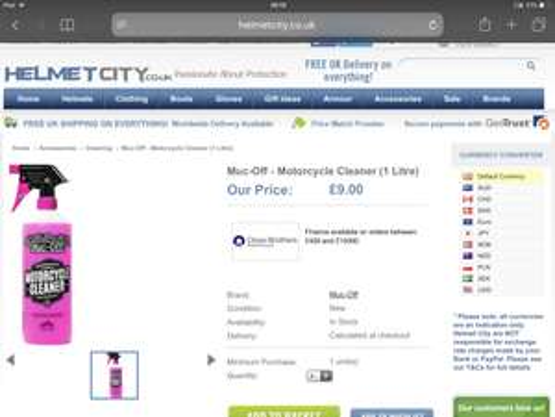Muc off BOGOF - £9 1L x2 instore @ Helmet City