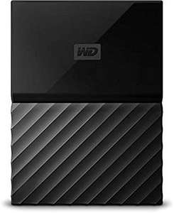 WD WDBYFT0030BBK-WESN My Passport 3 TB Portable Hard Drive and Auto Backup Software for PC, Xbox One and PlayStation 4, Black, 3 year warranty @ AMAZON
