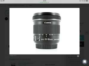 Pre-Loved Canon EF-S 10-18mm f/4.5-5.6 IS STM lens £189.95 Del @ MPB