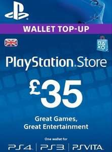 UK PSN Top-up Cards 14% discount £35 for £30.16 @ Electronic First