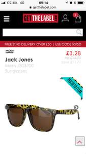 Jack jones wayfarer style men's sunglasses £3.29 delivered at get the label with code 1penny