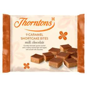Thorntons Mini Caramel Shortcake Bites (9) 70p @ Asda