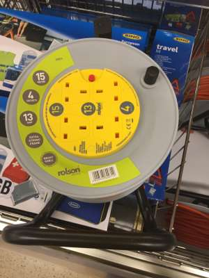 Tesco Leeds Instore - Rolson Cable Reel 15m £15