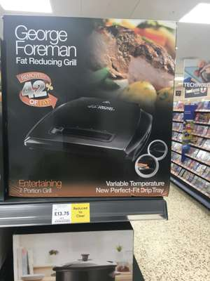George Foreman 7 Portion Grill - £13.75 @ Tesco - Dover