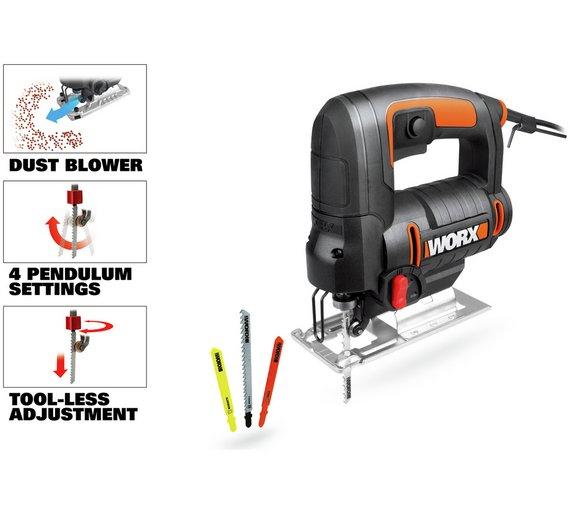 Worx WX477 550W 220V Variable Speed Jigsaw w/blades and case £27.99 @ Argos/ebay