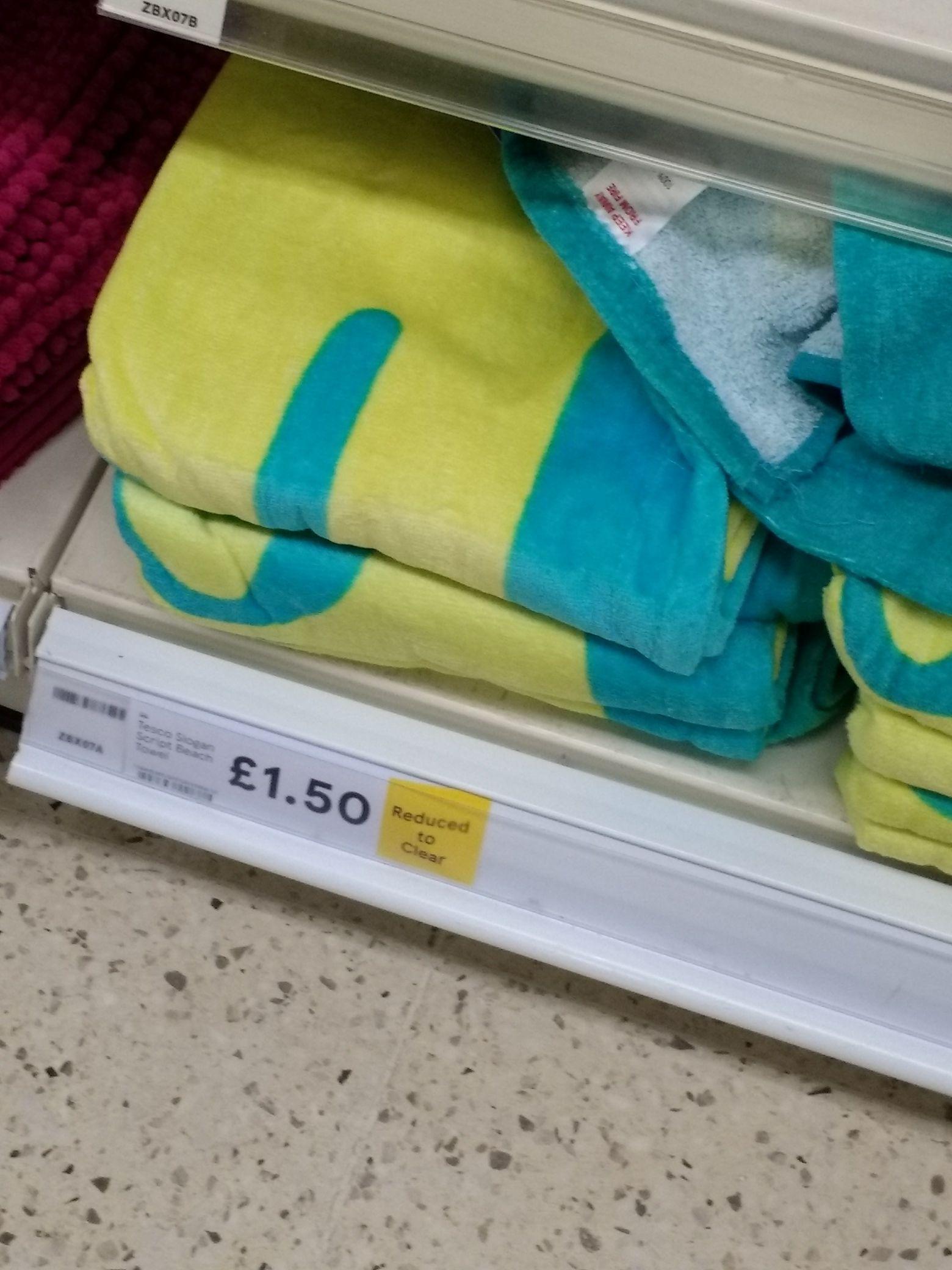 Tesco beach towel £1.50 instore - Burnley