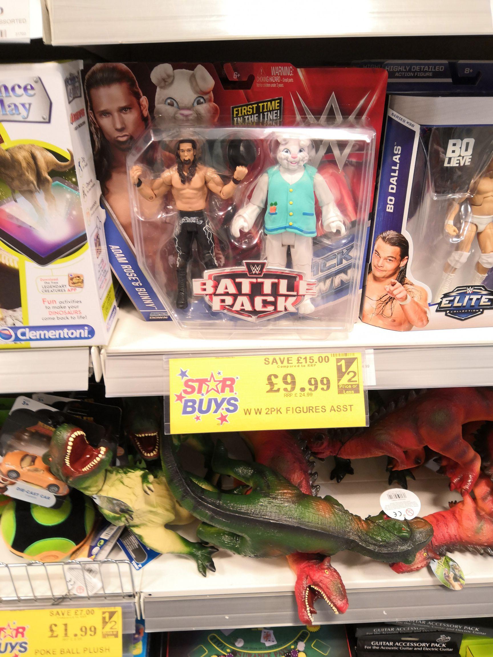 Wwe battle pack 2 figures @ homebargains prenton / wirral