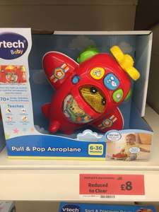 Vtech pull And pop aeroplane half price £8 @ Sainsbury's instore - Cameron toll