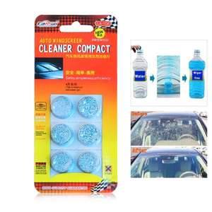6pcs Car Windshield Glass Washer Cleaner Compact Effervescent Tablets Detergent 75p Postage only w/code @ Zapals / @Amazon it is priced £4.21