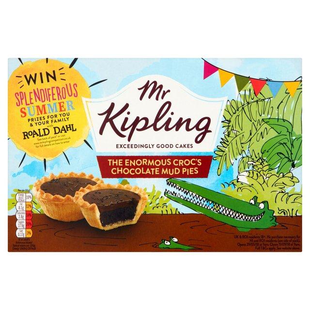 Mr Kipling Chocolate Mud Pies 6 pack, 3 for £1 at Heron Foods 65p each