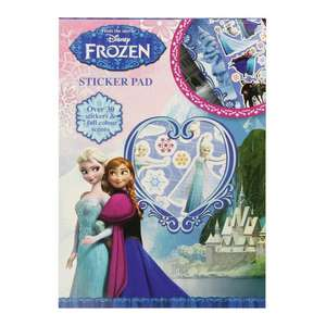 STICKER PAD SET CHOOSE FROZEN  STAR WARS THE GOOD DINOSAUR  OLAF LION GUARD 30 stickers & 7 full colour scenes NOW REDUCED to 50p  links in op @ Poundstretchers