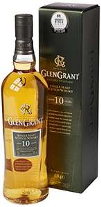 10 Years Old Malt Matured in Bourbon casks . Glen Grant 10 Year Old Single Malt Scotch Whisky, 70 cl £25.99 @ Amazon