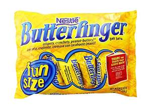 Butterfinger Bar Fun Size Covered Nuts 326 g (Pack of 12) £12.33 amazon prime (£4.49 delivery)