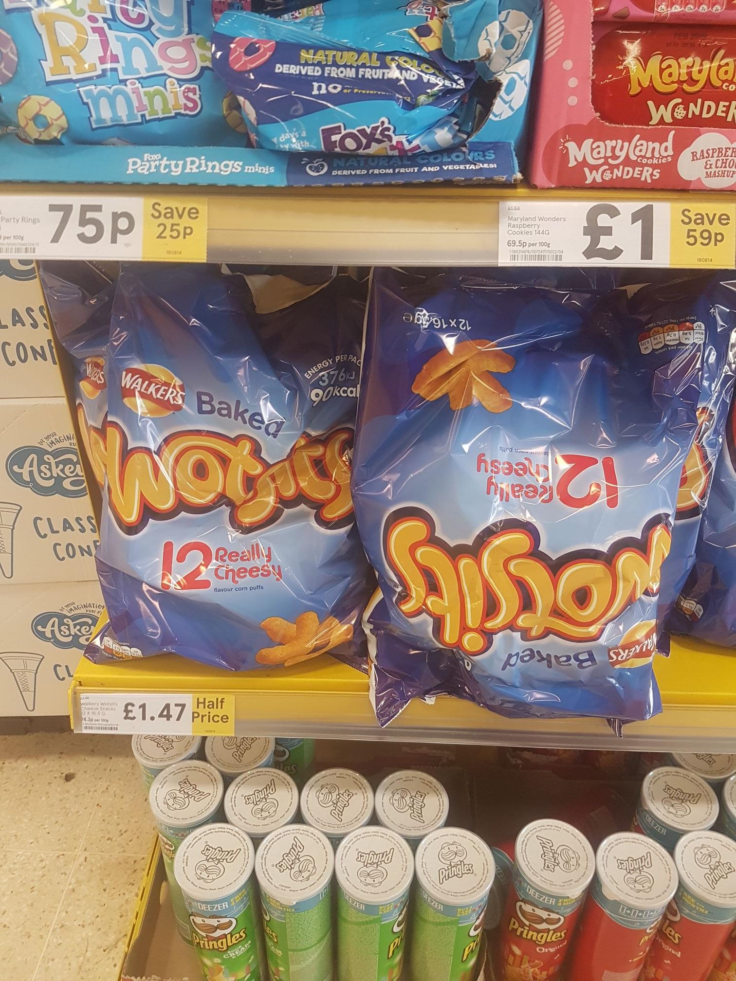 Wosits crisps 12 pack £1.47 instore @ Tesco