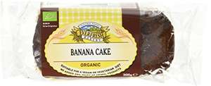 Everfresh Banana Cake Organic 300 g (Pack of 8) amazon prime and subscribe and save £10.50 (£14.49 non Prime)