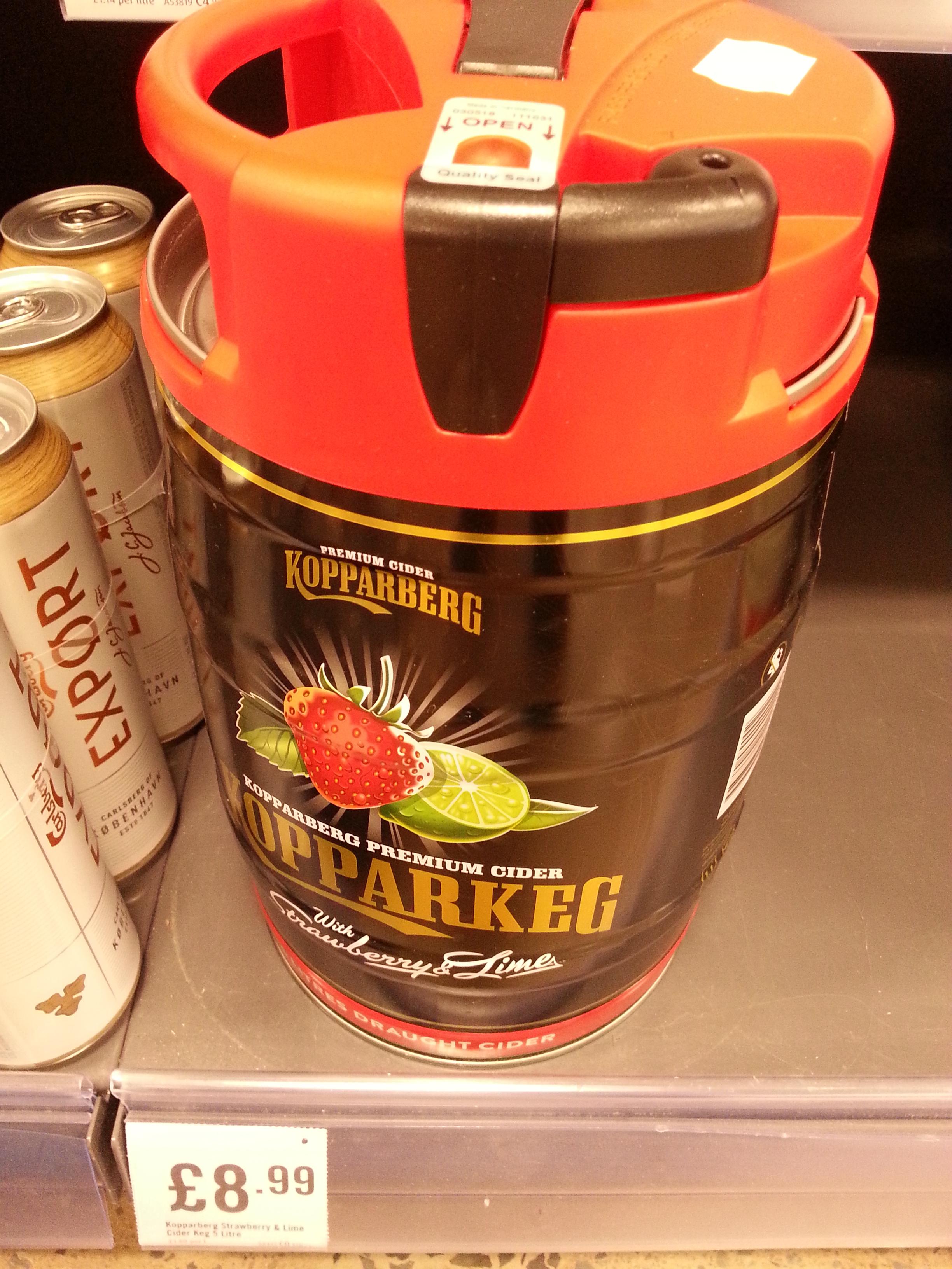 Kopperberg Strawberry and Lime Cider 5 ltr keg £8.99 @ Iceland Warehouse