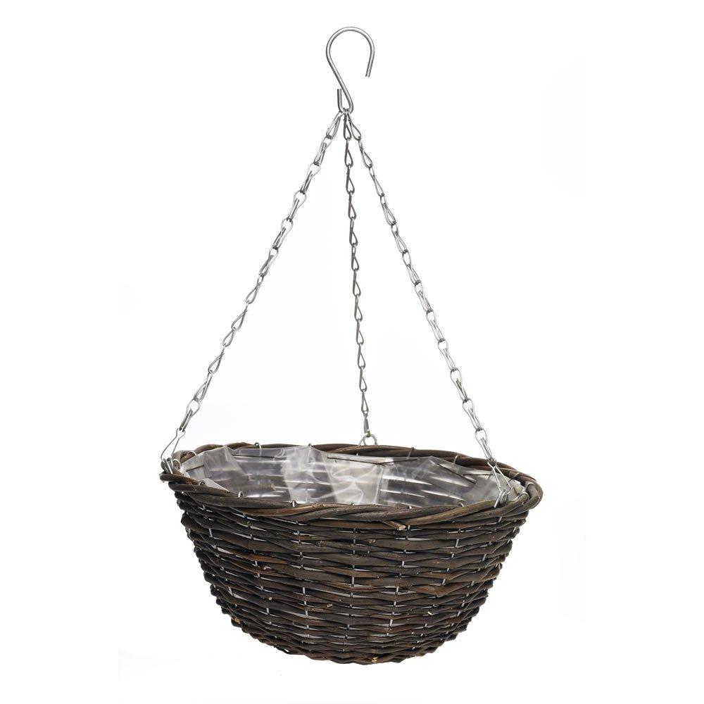 Wilko Hanging Basket Wicker 35cm - £1p instore only