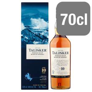 Talisker 10 Year Old Malt Whisky - 70Cl - £30 Tesco