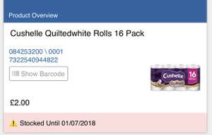 Cushelle Quilted 16 Pack £2 instore @ Tesco