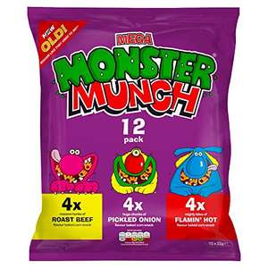 Walkers French Fries & monster munch pack of 12 £1.47 @ amazon pantry add four and get £2.99 pantry delivery credit