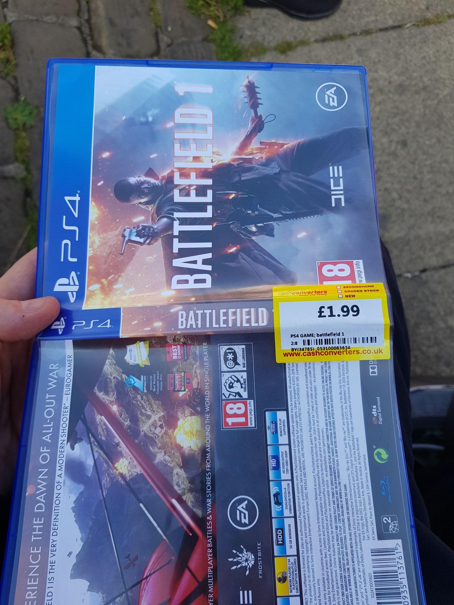 Battlefield 1 - PS4 £1.99 @ Cash Converters (Instore at Shipley, Bradford)