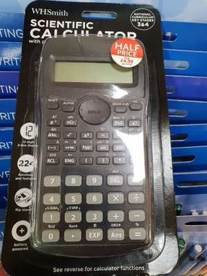 WhSmith Scientific Calculator £4.99 £2.49 delivery or free C&C @ WhSmith