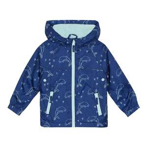 a56960b1f4ec9 bluezoo Girls Navy Dolphin Print Fleece Lined Shower Resistant ...