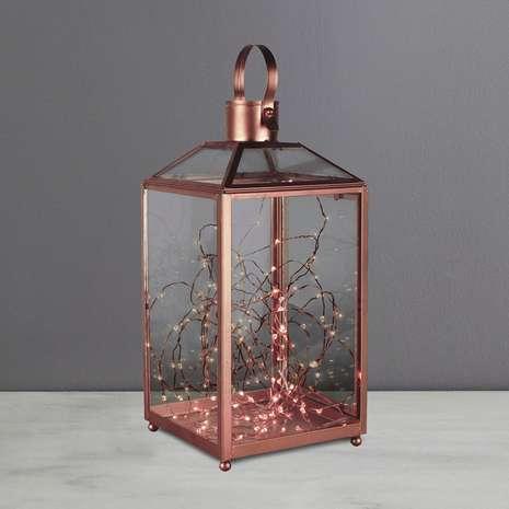 Dunelm Hanford Antique Gold Lantern £8.75 - free c&c