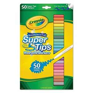 Half Price Back to School @ Tesco eg Crayola 50 Supertips was £10 now £5 / Tesco Stationery Essentials Draw String Backpack was £12 now £6