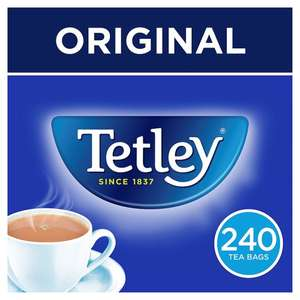 Tetley 240 Teabags 750G Better Than Half Price Was £6.39 Now £2.99 starts 15th Aug @ Tesco