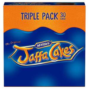 Mcvitie's Jaffa Cakes Triple Pack 30 Cakes HALF PRICE ONLY £1.25 from 15th Aug @ Tesco