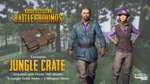 Free PUBG (Playerunknown's Battlegrounds) Jungle Crate for Twitch Prime Members
