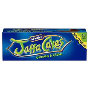 Mcvitie's Jaffa Cakes Lemon &Lime  & Mcvities Jaffa Cakes 10 Pack HALF PRICE only 50p from 15th Aug @ Tesco
