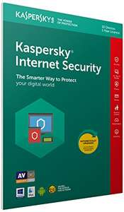 Kaspersky Internet Security 2018 | 10 Devices | 1 Year | PC/Mac/Android £16.99 prime / £19.98 non prime @ Amazon