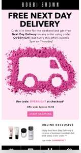 Free next day delivery @ Bobbi Brown