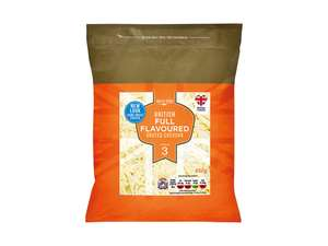 Valley Spire British Full Flavoured Grated Cheddar Cheese (450g) was £2.49 now £1.49 Available at Lidl this weekend 18th+19th Aug