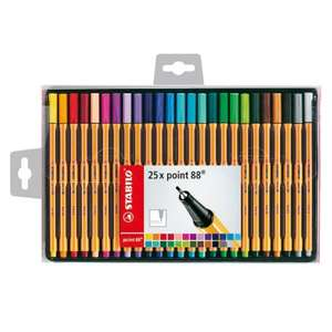 Stabilo Point 88 Fineliner Pens 25pk only £8.99 In Store @ B&M